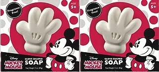 Disney Mickey Mouse Glove Shape Soap 3 Oz (Set of 2)