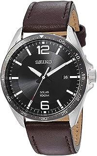 Seiko men's Solar Quarts Watch Brown SNE487P1