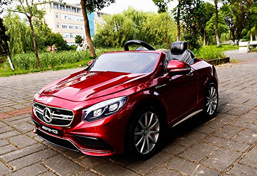 RC Auto kaufen Kinderauto Bild 3: Mercedes-Benz S63 AMG Cabriolet Ride-On 12V Elektro Kinderauto Kinderfahrzeug Kinder Elektroauto (ROT PAINT)*