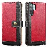 Lensun Case for Huawei P30 Pro, Flip Leather Wallet Phone