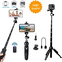 Bluehorn All in one Portable 40 Inch Aluminum Alloy Selfie Stick Phone Tripod with..