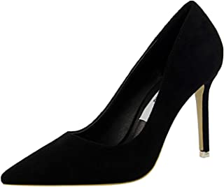 Purple Shoes Heel Woman Flock High Heels Women Pumps Ladies Office Shoes