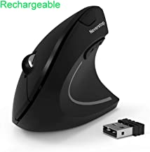 Wireless Rechargeable Ergonomic Mouse, 2.4G Small Wireless Vertical Optical Mice with 3 Adjustable DPI Levels for Laptop, PC, Computer, Desktop, Notebook
