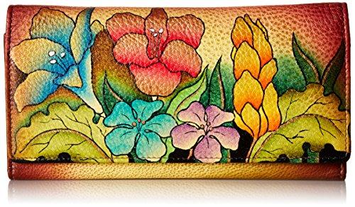 Anna by Anuschka Piel Pintada a Mano | Monedero con Tres Compartimentos, Color, Talla Einheitsgröße