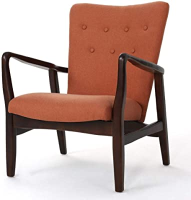 Christopher Knight Home Becker Fabric Arm Chair, Orange