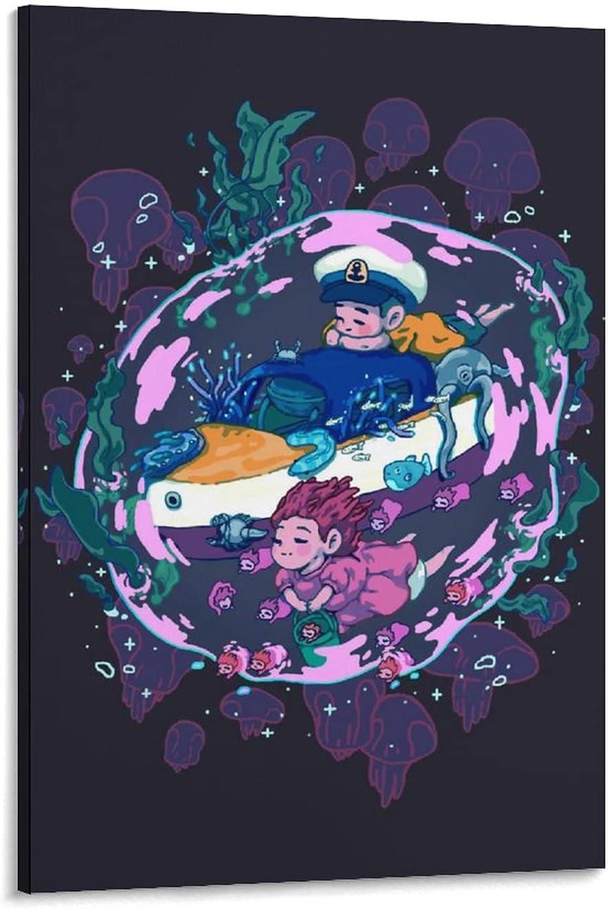 SHIJIEDAYA Ponyo Abstract Deep Dark Sea De Movie Special Campaign Art Wall Poster Super sale period limited