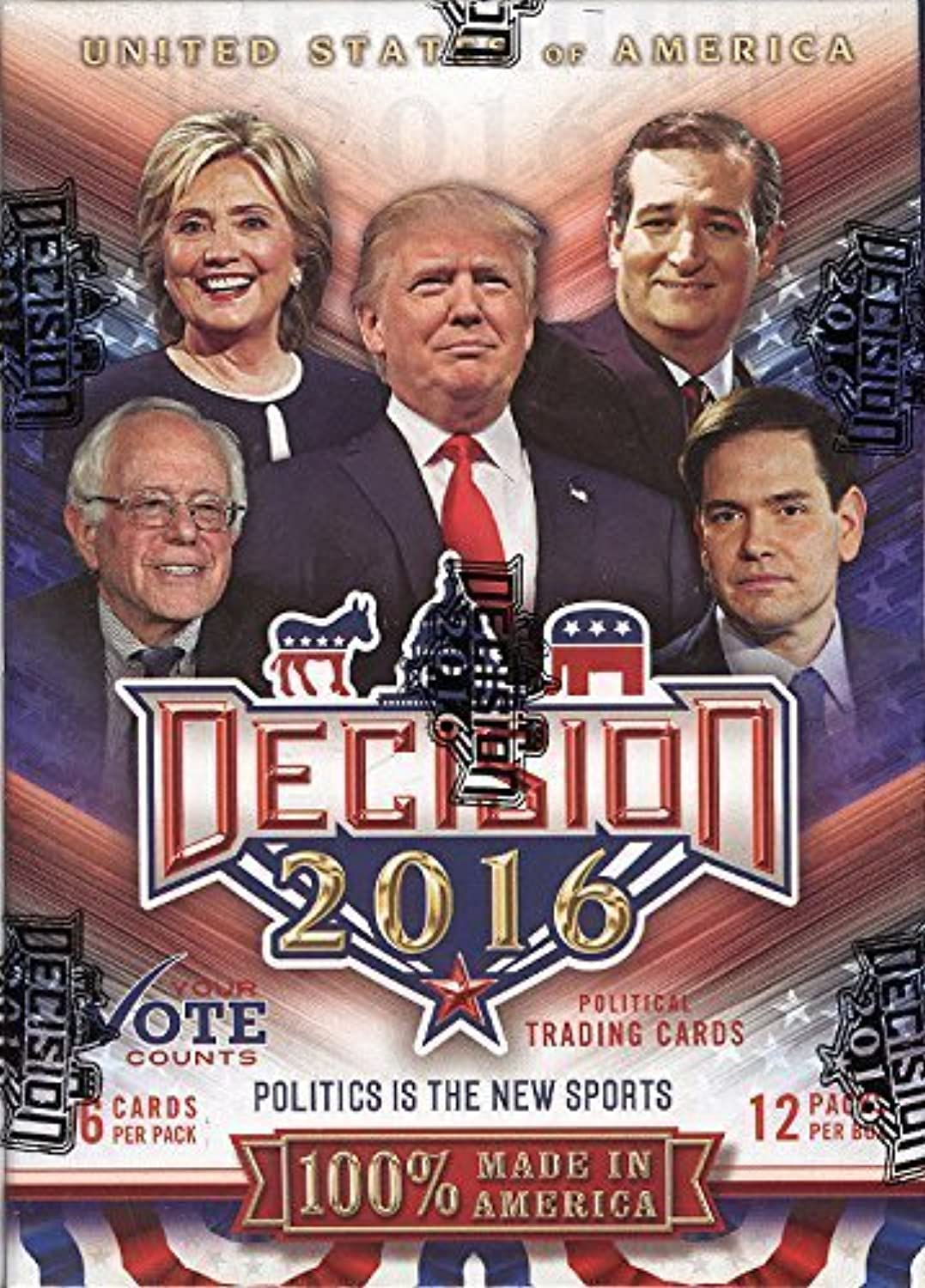 Decision 2016 Political Trading Cards Blaster Box by Decision 2016