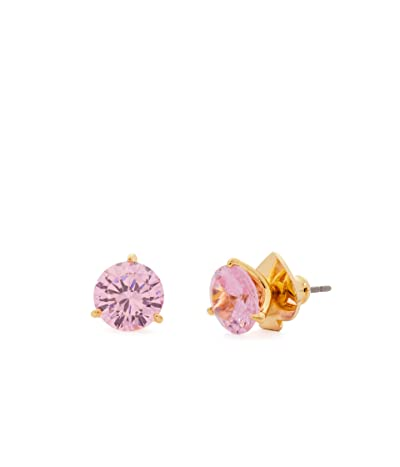 Kate Spade New York Brilliant Statements Trio Prong Studs Earrings (Pink) Earring