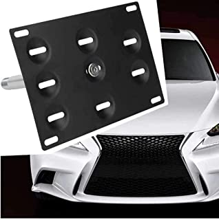 JahyShow Sport Front Bumper Tow Hook License Plate Mount Bracket Holder Bolt On for Lexus IS250 IS350 CT200