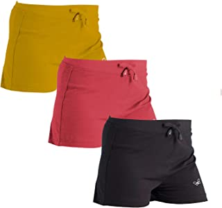 Vachi Girls Shorts for Cycling Gym Yoga Pack of 3 (Multi-Coloured, 10-12 Years)