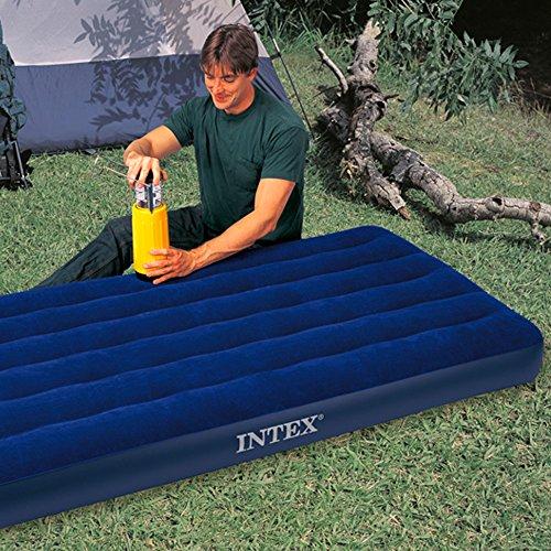 Intex Classic Downy 68757, Materassino gonfiabile, Twin - 99 x 191 x 22 cm - Blu