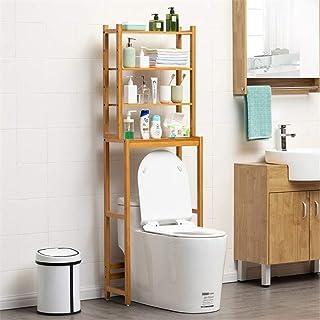 Au-dessus de l'unité de stockage de toilette 3 étagères salle de bains Espace Saving Organisateur rack autoportant salle d...