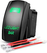 Nilight NI-RS05 Blue 5 Pin Backlit Rocker Switch, (REAR LIGHTS, On/Off 20A 12V for Vehicle Boat Marine)
