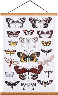 Ywlake Poster Frame Hanger, Magnetic Magnet Poster Hangers Hanging Kit Wood Wooden for 16x20 16x24 16x22 Poster Dowel Scro...