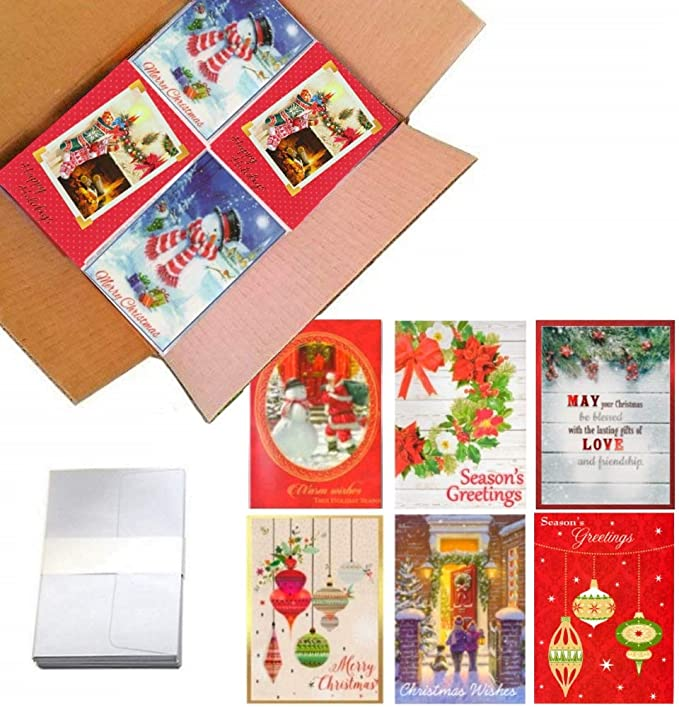 Christmas Greeting Card 6Pcs Christmas Card New Creative Retro Thank You Card Cute Modern Traditional Christmas Card Making Supplies Christmas Wallet Cards and Envelopes