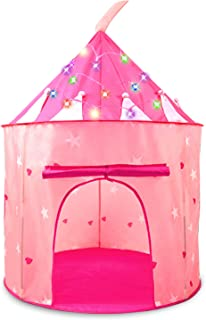 HiDreammy PrincessPlayTent Toys withTwinkleColoredLights for Kids