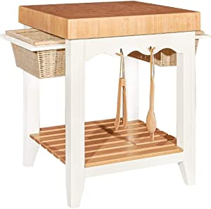 Powell Furniture Kitchen Island, White