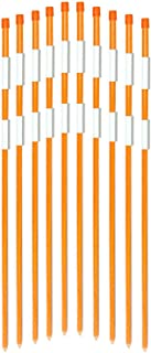 FiberMarker 48-Inch Reflective Driveway Markers Driveway Poles for Easy Visibility at Night 1/4 Inch Diameter Orange,20 Pack