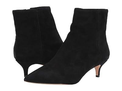 J.Crew Suede Emma Kitten Heel Boot (Black) Women