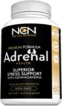 Ashwagandha with Holy Basil for Adrenal Health - Premium Herbal Blend to Support Optimal Energy and Health - Supports Fatigue Management, Cortisol Regulation & Stress Relief, 100% Non GMO - by New Cel