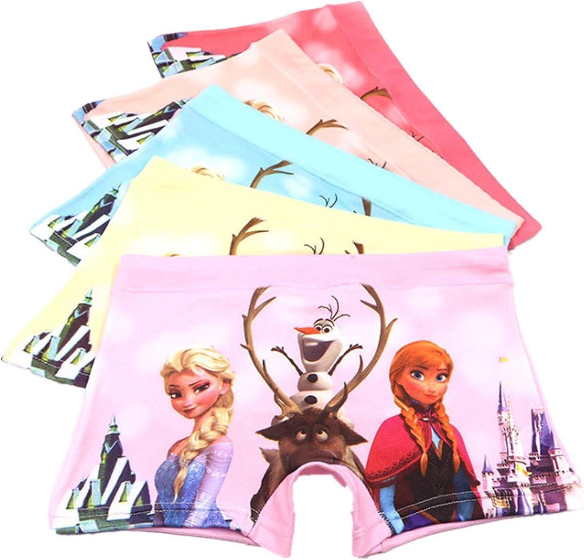 FOFJR 2-8 Year Girls Character Boyshorts Underwear Dress Shorts Multipack 5 Pack