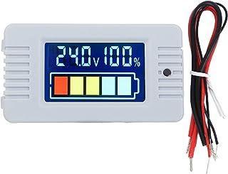 Gerioie Indicador de capacidade da bateria, voltímetro digital do monitor da bateria, para sistemas de teste de bateria do...
