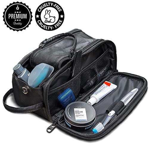 87f870a09e45 Toiletry Bag for Men or Women - Dopp Kit For Travel. Cruelty Free Toiletries  Organizer