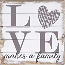 Sincere Surroundings PET1010 Love Makes A Family 6 x 6, White