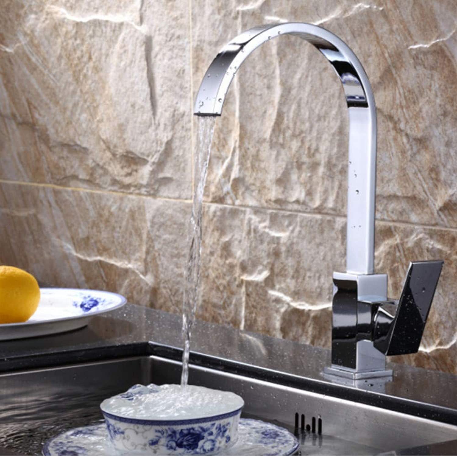 Faucet European Copper Kitchen hot and Cold Water Faucet Single Sink Sink Mixer Faucet
