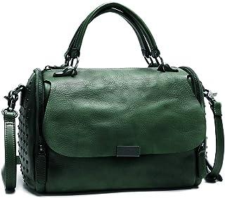 Genuine Leather Satchel Bag for Women Vintage Handmade Top Handle Crossbody Handbag