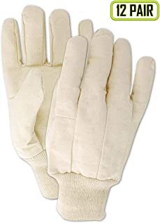 Magid Glove & Safety T83C Magid MultiMaster T83 8 oz. Clute Pattern Cotton Canvas Gloves, Natural, Ladies (Fits Medium) (12 Pairs)