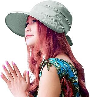 HINDAWI Sun Hat Wide Brim Sun Hats Women Packable UPF UV Protection Visor Floppy Beach Womens Summer Cap
