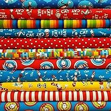 Dr Seuss Cat in The Hat Bundle from Robert Kaufman Fabric - 11 Fabrics (Fat Quarter (18