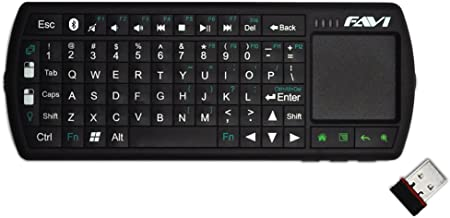 FAVI Mini Bluetooth Keyboard with Laser Pointer and Backlit Keys (FE02BT-US27)
