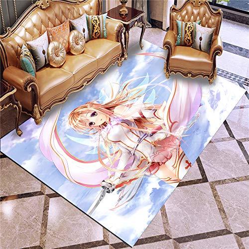 XuJinzisa Sword Art Online Alfombra De Dibujos Animados Anime 3D Impresión De La Alfombra Cocina Puerta Alfombra Niños Adultos Bebé Alfombra De Juego Alfombra del Piso del Hogar 60X100Cm H20598