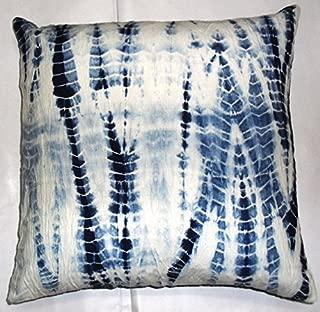 Indigo Pillows, Tie Dye Cushion Cover 16x16, Decorative Throw, Shibori Pillowcases, Indian Outdoor Cushion, Boho Pillow Shams