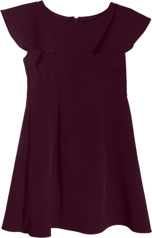 Girls' Princess Line Front Ruffle Dress Cut-in Shoulders Girls Dailywear