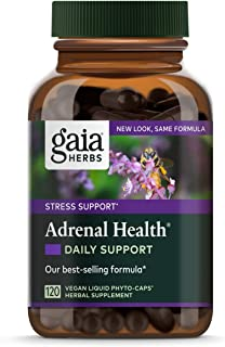Gaia Herbs Adrenal Health Daily Support, Stress Relief and Adrenal Fatigue Supplement, Holy Basil, Ashwagandha, Rhodiola A...