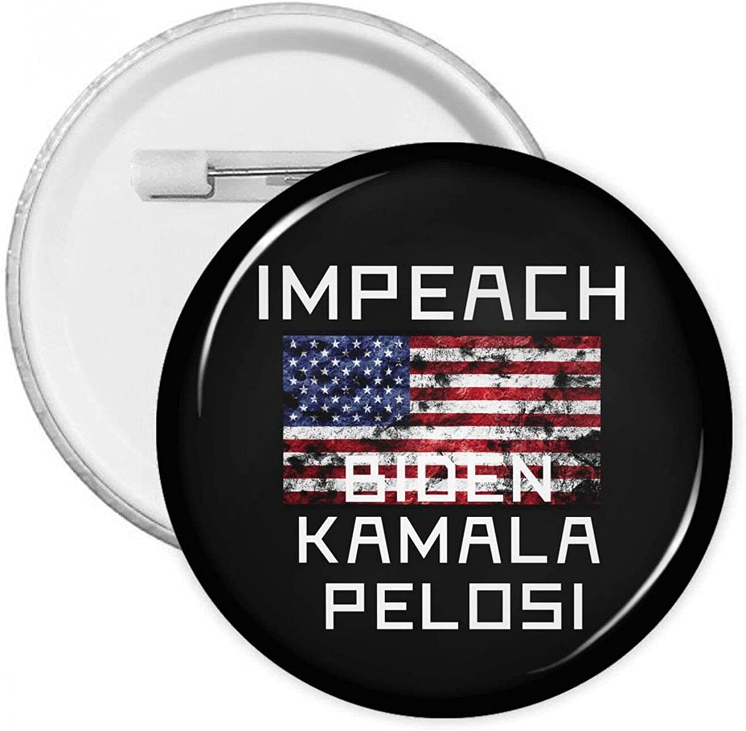 Over item handling ☆ Impeach Biden Kamala Harris Don't miss the campaign Pelosi With Button Round Badges Pins