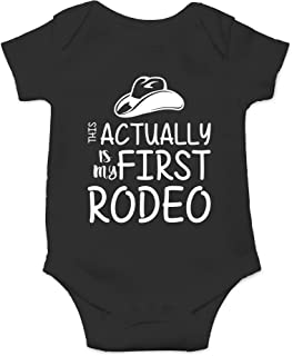 CBTwear This is My First Rodeo - Country Inspired Cowboy Or Cowgirl - Cute Infant One-Piece Baby Bodysuit