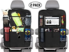 KNGUVTH Backseat Car Organizer Kick Mats, Car Seat Back Protectors with Clear 10