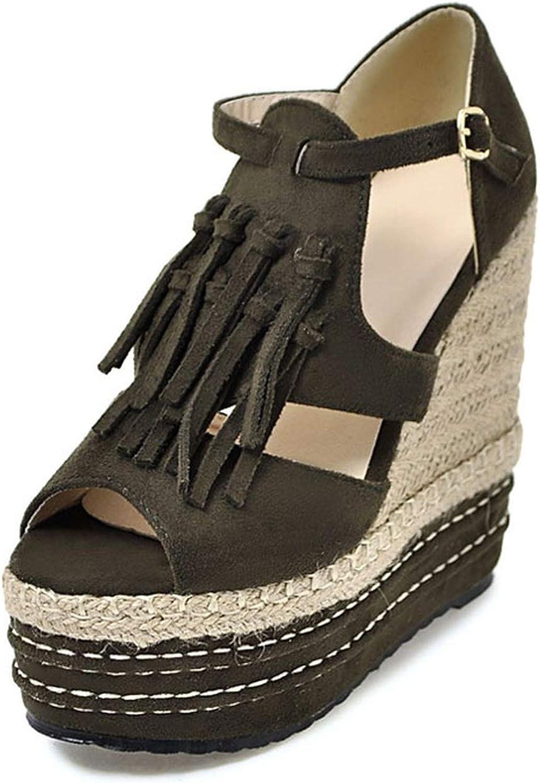 Small Basketball Wedge Sandals Women 'Summer shoes Rome Straw High Heels shoes Woman Platform Sandals