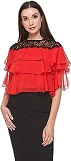 Elle Round Neck Ruffle & Peplum Top For Women