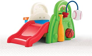 Step 2 Sports-Tastic Activity Center for Toddlers, Durable Outdoor Slide and Climber with Ball Game Accessories, Multicolor