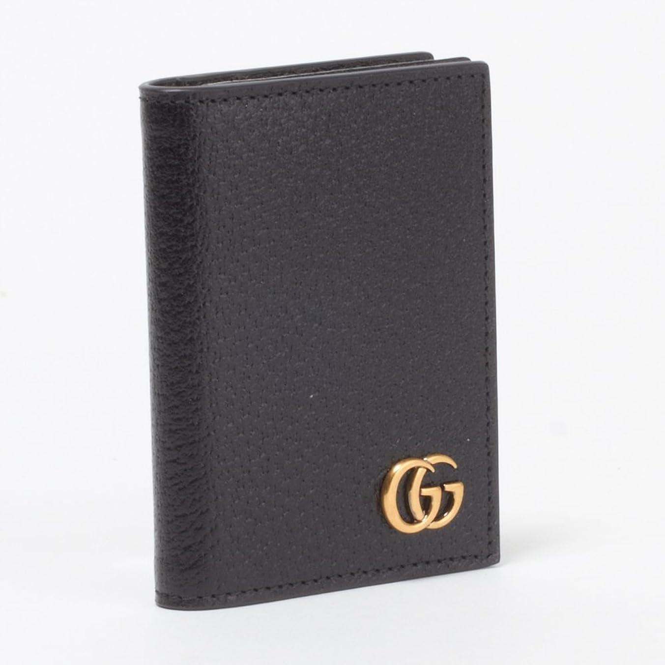 垂直エラーオークランド(グッチ) GUCCI カードケース 428737 DJ20T 1000 ブラック 【MARMONT】 [並行輸入品]