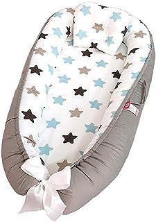 Sharing Co babyvilstol och babybo för spädbarn, babykorg, 100 % mjuk bomull, premiumkvalitet och större storlek, ventilera...