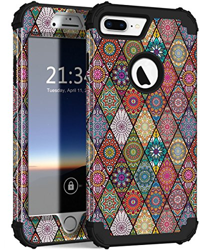 iPhone 7 Plus Case, Hocase Drop Protection Shockproof Silicone Rubber Bumper+Hard Shell Hybrid Dual Layer Full-Body Protective Case for Apple iPhone 7 Plus 5.5