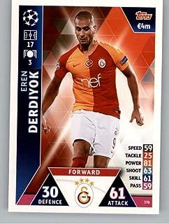 2018-19 Topps UEFA Champions League Match Attax #376 Eren Derdiyok Galatasaray S.K. Official Futbol Soccer Card