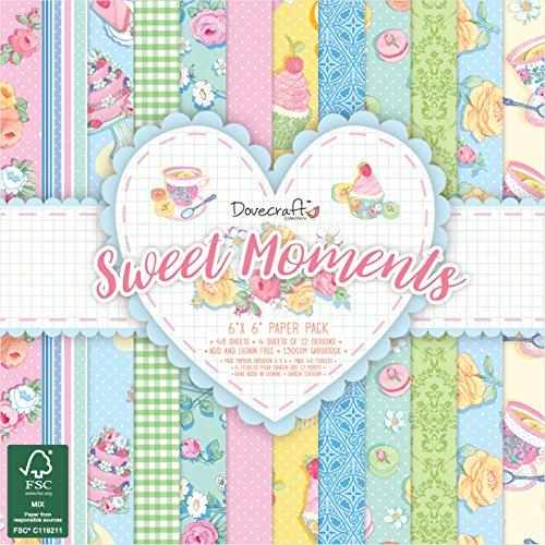Dovecraft Sweet Moments FSC 6x 6Pezzi, Carta, Multicolore, 16x 16x 3cm