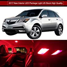 SCITOO LED Interior Lights 16pcs Red Package Kit Accessories Replacement for Acura MDX 2001-2006